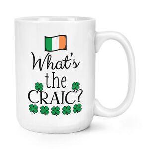 what-039-s-THE-CRAIC-426ml-Mighty-Taza-Divertido-Irlanda-Bandera-Trebol