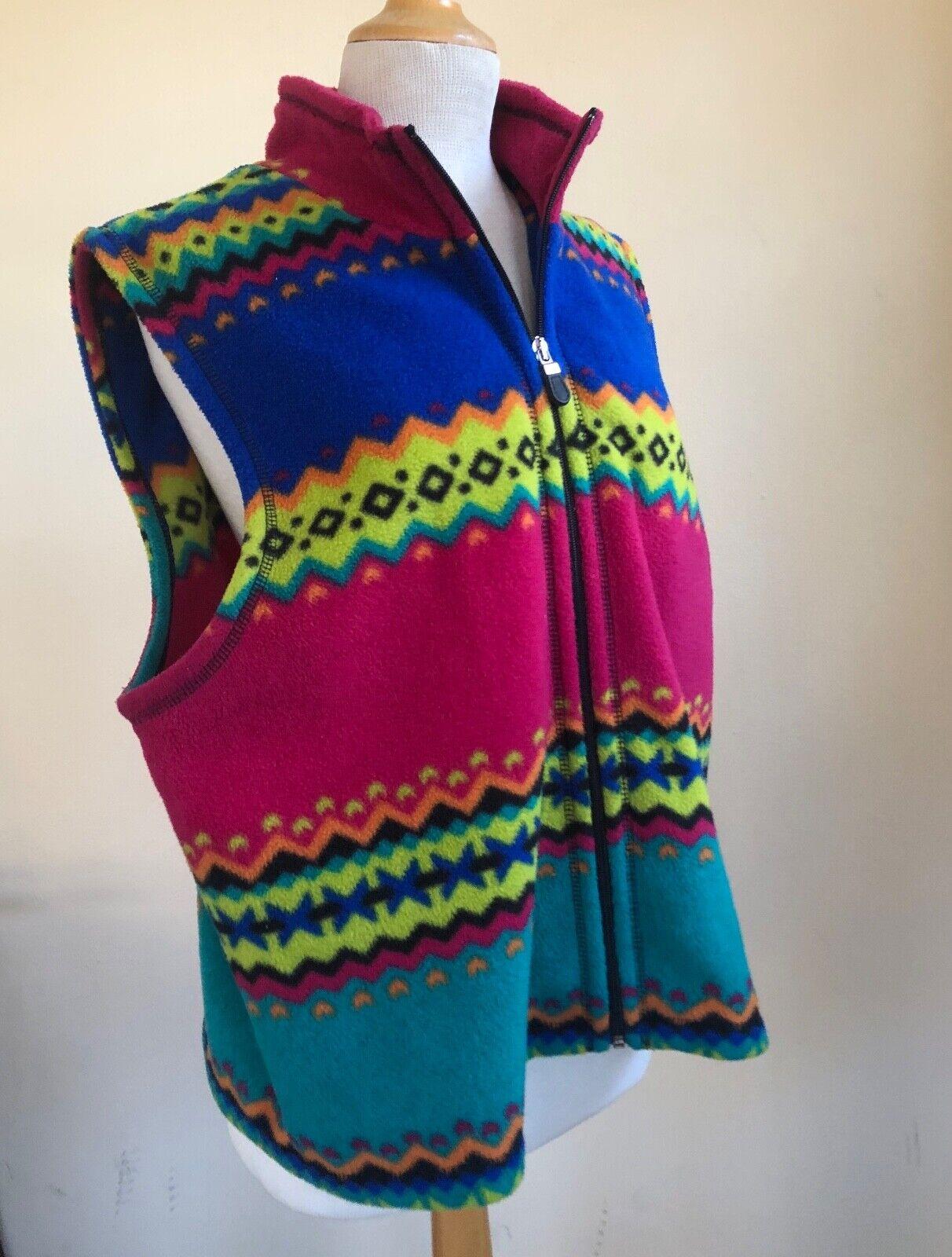 Susan Bristol -Sz XL PRINTED Wild Fleece Art-to-W… - image 2