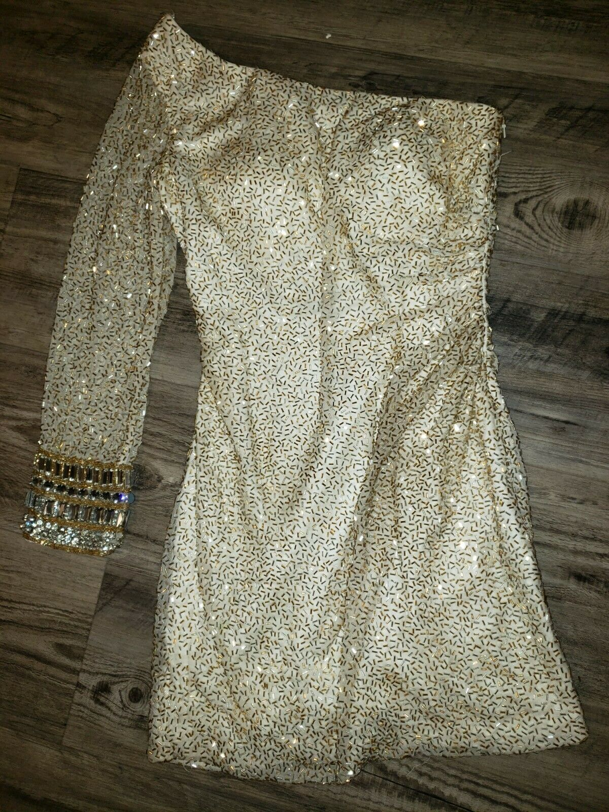 Sherri Hill beaded Cocktail Dress sz 2 Similar to style # 52939 off the shoulder