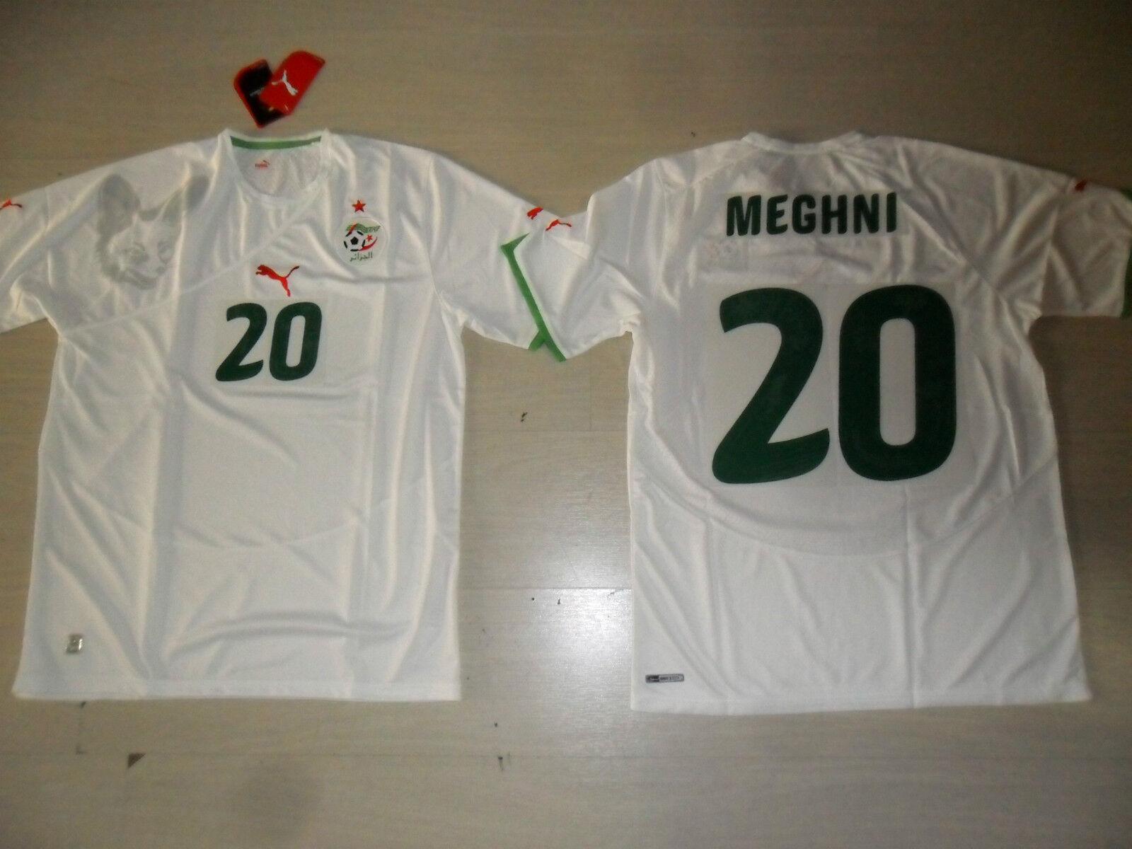 0299 TG XL MEGHNI 20 PUMA ALGERIA MAGLIA MAGLIETTA SHIRT JERSEY TRIKOT ALGÉRIE