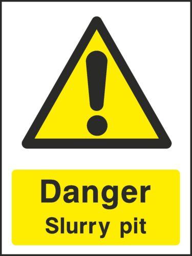 VAT Invoice Supplied V6COUN0019 Danger Slurry Pit Sign