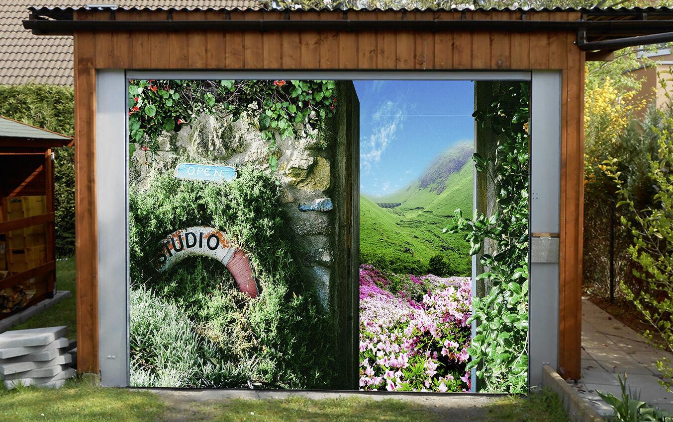 3D Natural scenery Garage Door Murals Wall Print Decal Wall Deco AJ WALLPAPER AU