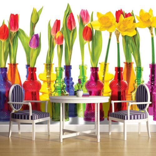 VLIES Fototapete Fototapeten Tapeten Natur Blumen Tulpen Blume Bunte 14N2143VEXL