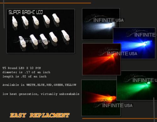 RED Color 10 x bulbs T5 Instrument Cluster Panel Gauge Dash LED bulbs light