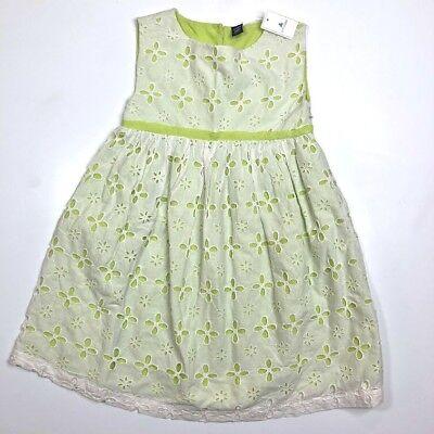 NWT Baby Gap Girls Size 6 12 18 24 Months Mint Green Eyelet Ruffle Dress Easter
