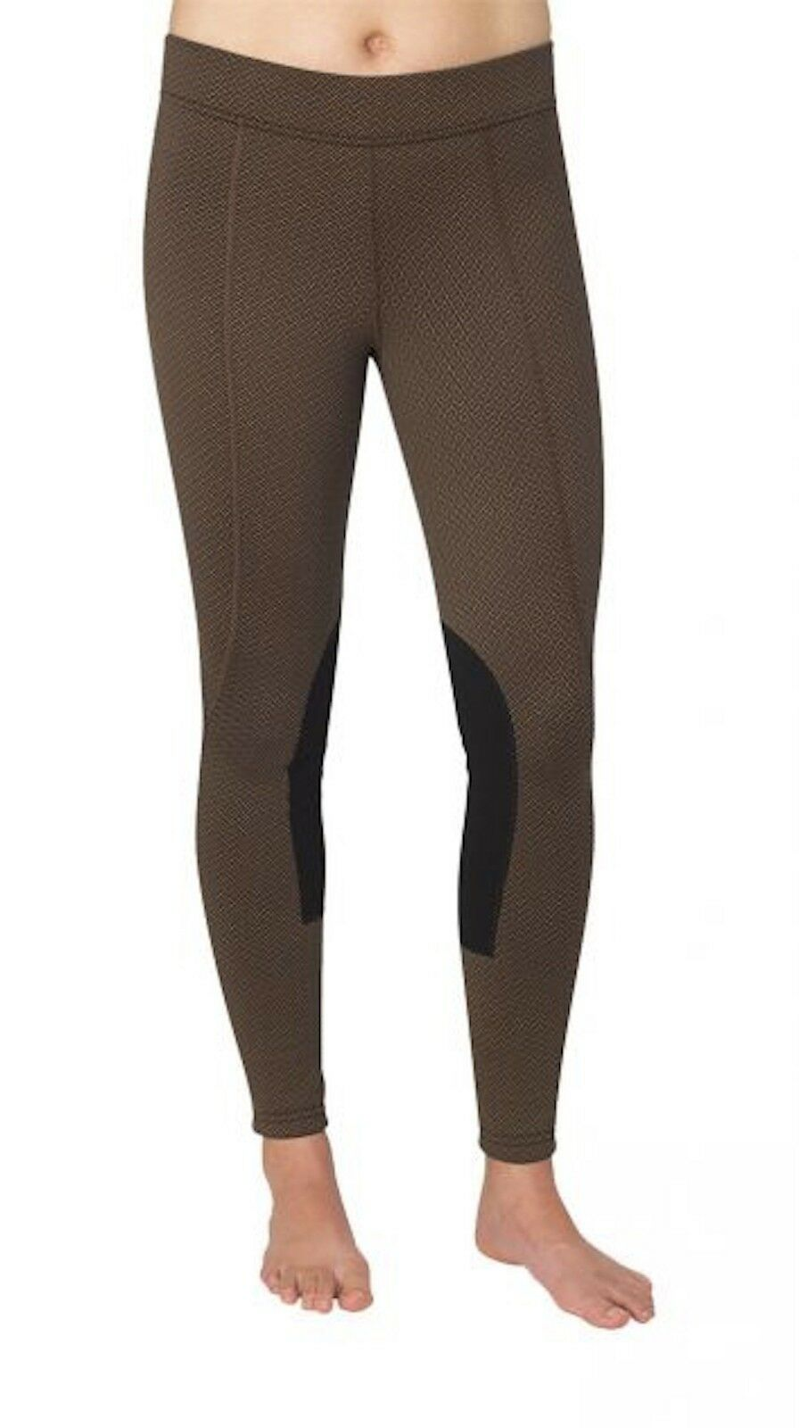 Kerrits Fleece Flow Rise Performance Tight-Bronze Herringbone-S