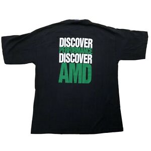 Vtg-AMD-Athlon-Processor-XP-Shirt-Large-Discover-Performance-Black-Green
