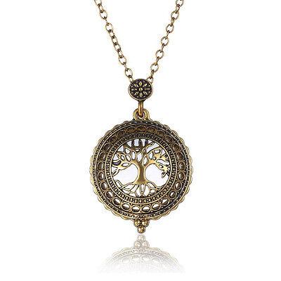 1pc Vintage Pocket Watch Necklace Steampunk Pendant Men Women Necklace Chain Hot