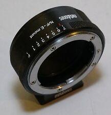 Metabones Nikon G F-mount to Sony NEX E mount adapter