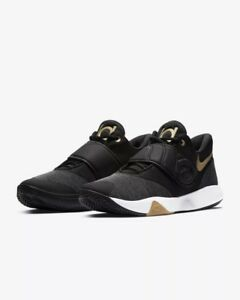 0afaee304aa0 Men s Nike KD Trey 5 VI Basketball Shoes Black White-Grey-Gold NIB ...