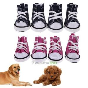 4pcs-Pet-Dog-Boots-Puppy-Denim-Sports-Anti-slip-Shoes-Sneakers-For-Small-Dogs