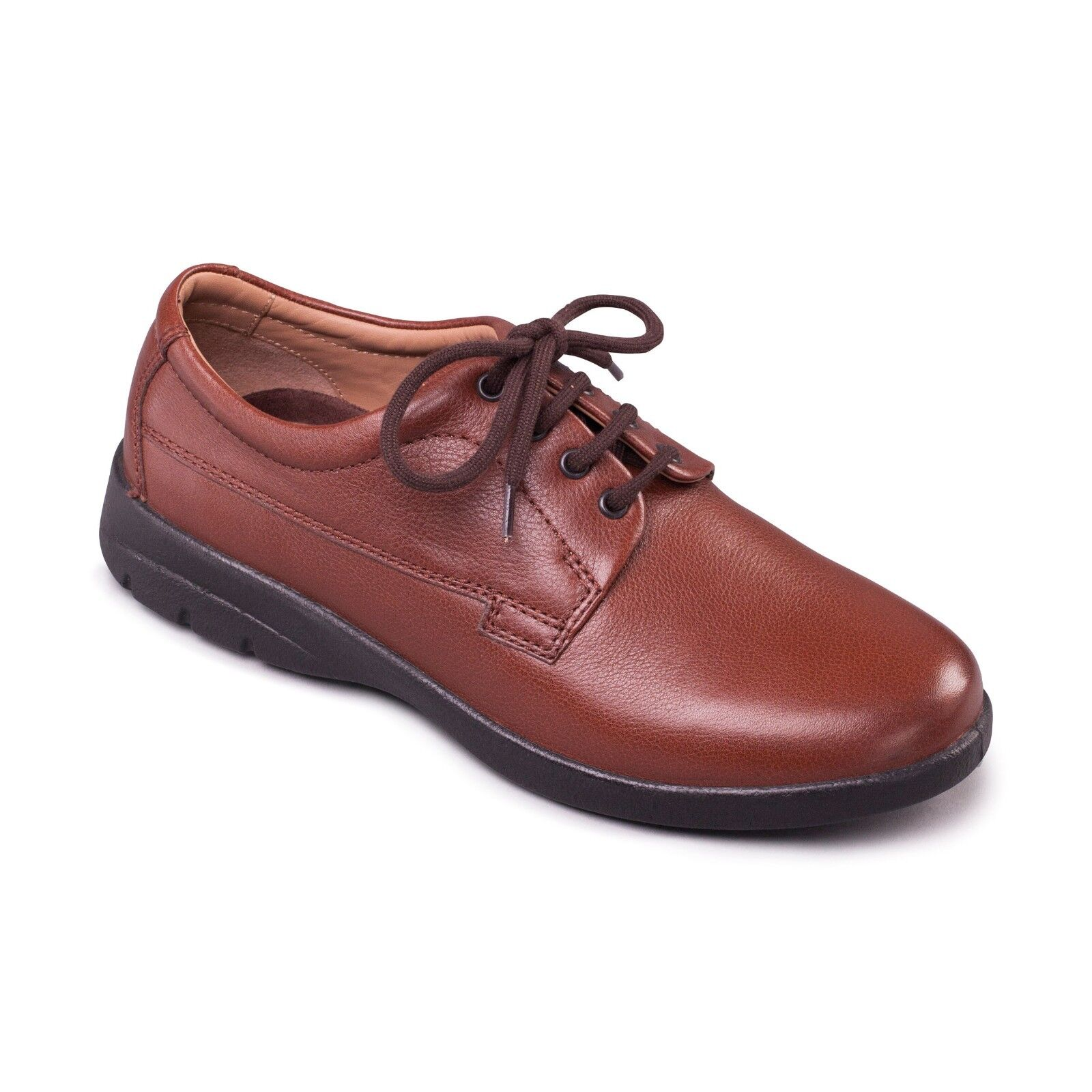 Padders Casual Hombre Lunar Leather Wide G/H Fitting Comfort Casual Padders Tie Up zapatos Tan e1a398