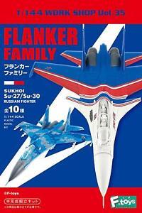 F-toys-603729-Flanker-Family-Sukhoi-Semi-Finished-1-144-scale-kit-1-BOX-10-kits