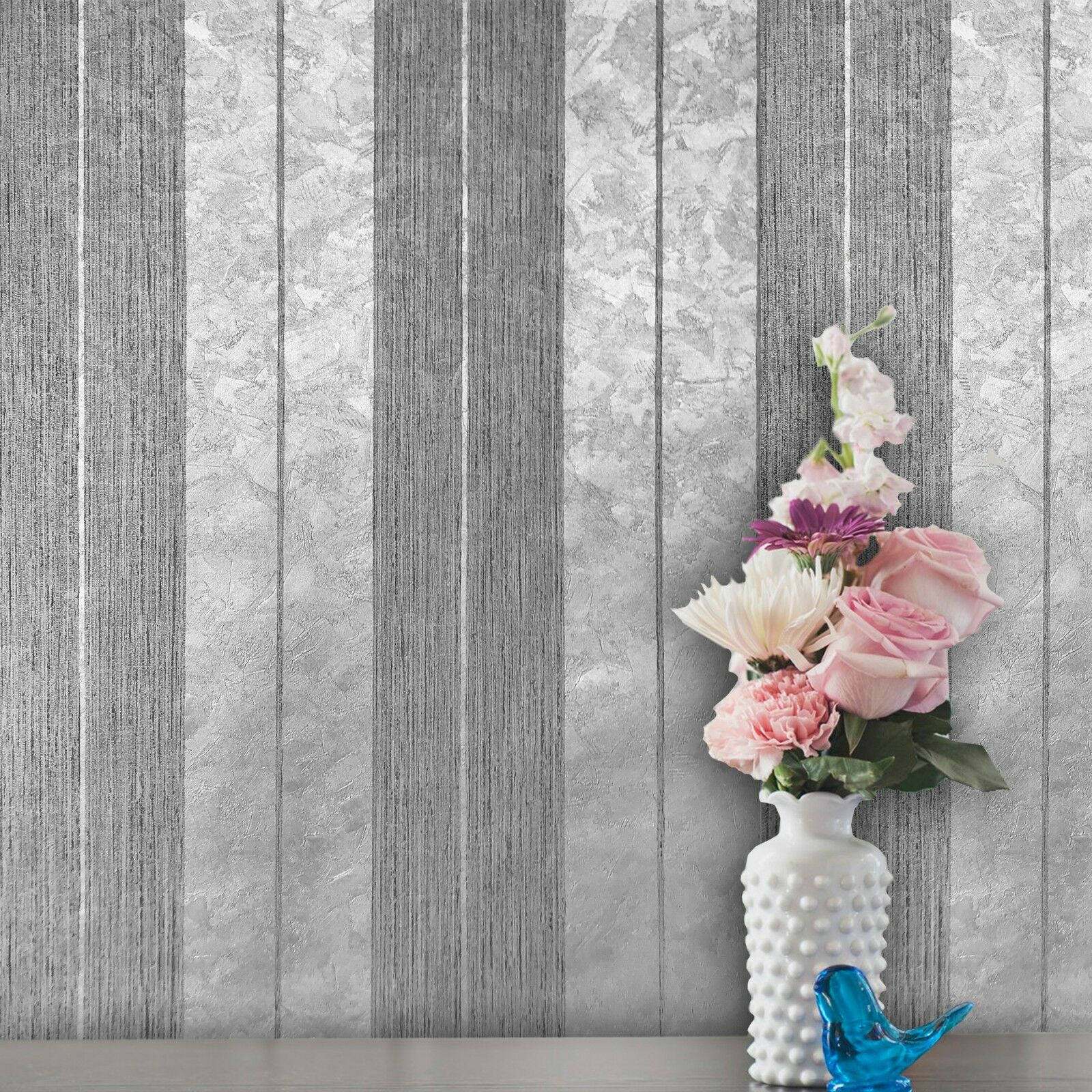 ARTHOUSE SELINA STRIPE PATTERN AZTEC STRIPED METALLIC GLITTER WALLPAPER 673500