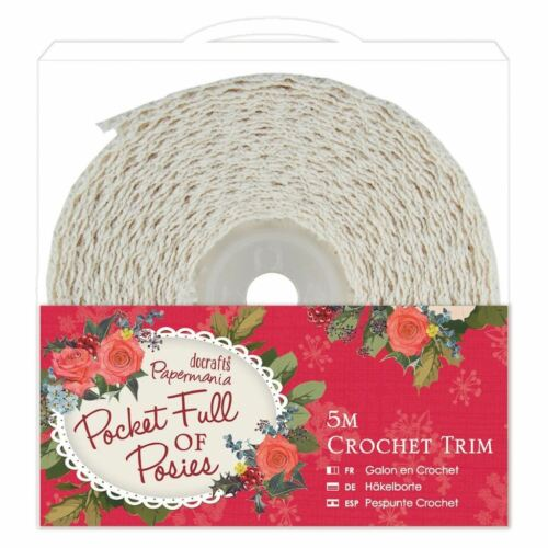 Docrafts Pocket Full of Posies 5m Paper Card Craft Crochet Trim