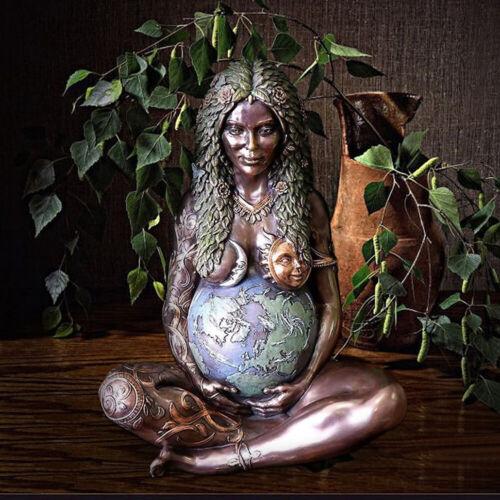 Millennial Mother Earth Gaia Goddess Art Statue Figurine for Altar Home Decor
