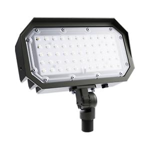 Portor LED Flood Light 50W 3000K 6567 Lumen 175W MH Equal 120-277V Knuckle Mount