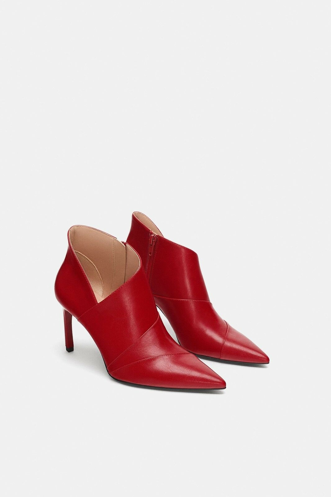 ZARA WITH NEW AW18 ANKLE BOOTS WITH ZARA STILETTO HEEL RED ALL SIZES REF. 7116/301 c53d8c
