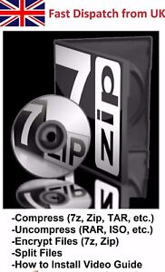 Details about 7-Zip Archive Manager Compress Uncompress ZIP UNZIP RAR ISO  Software for Windows
