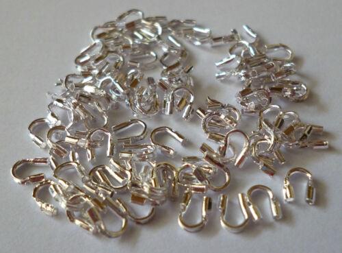 50 pieza de metal wire Guardian en color plata 5x4mm para procesamiento de joyería