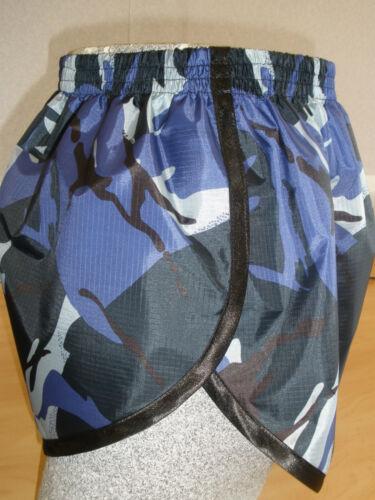 Blue Camo//Black 4XL Retro Ripstop Nylon Sprinter Shorts S