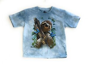 27e640a6f33 The Mountain Unisex Kid s T-Shirt Sloth   Butterflies Blue Tee S-M-L ...