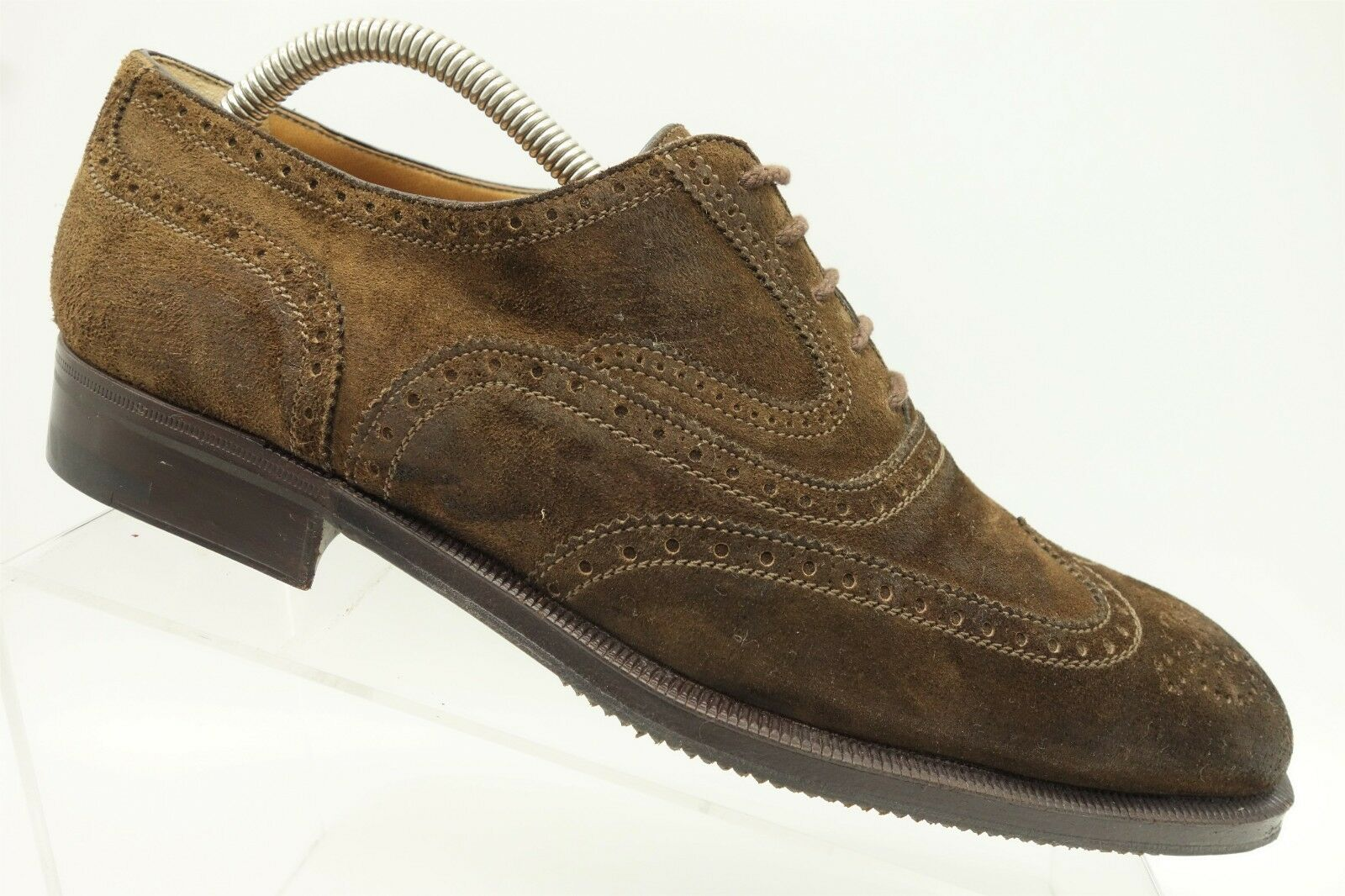 A Testoni  Brown Leather Lace Up Wingtip Oxford shoes Mens 9