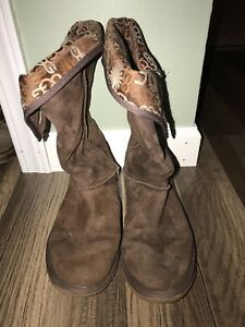 f61ba5dffc6 Details about UGG Australia Womens 5815 Classic Tall Suede Boot Chocolate  Brown Suede Size 7