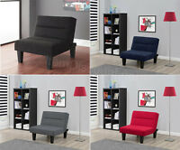 Futon Living Room Chair Accent Recliner Ottoman Chaise Lounge Convertible Game