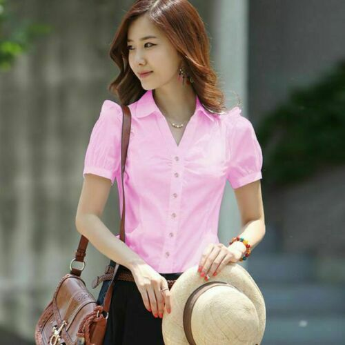 Girl Women Ladies Office Floral Casual Shirts Shirt Girl/'s Fashion Tops Stylish
