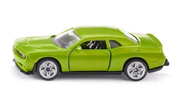 Blister New Siku 1408 Dodge Challenger SRT Hellcat Green Metallic Model Car °