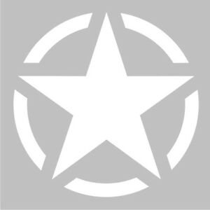 Matt-White-US-American-Army-Military-Star-Car-Bumper-Vinyl-Decal-Sticker-Badge