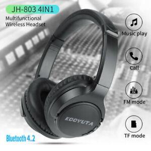 Wireless-Bluetooth-Headphone-Foldable-Stereo-Earphone-Bass-Headset-Mic-US-KY