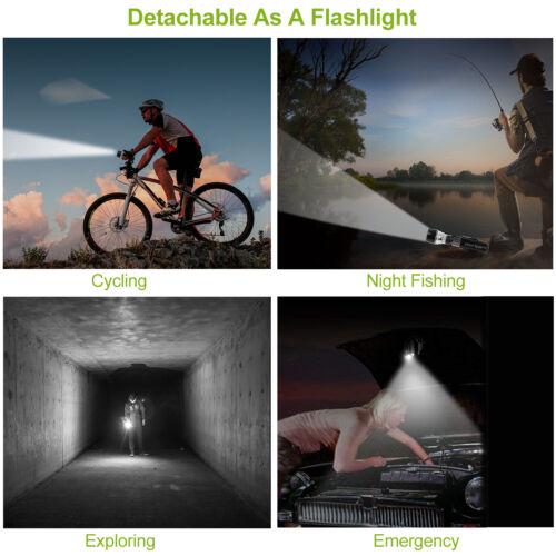4x Waterproof Lamp Bike Bicycle Front 5LED Head Light Rear Safety Flashlight Lot