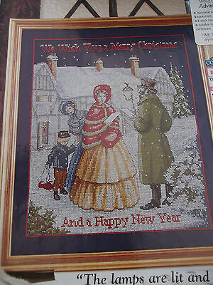 Carol SIngers in the Snow  - Cross Stitch Chart by Sandy Littlejohns