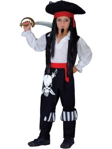 CAPITANO BLACKHEART Outfit Costume Bambini Jake E Il Neverland Pirati