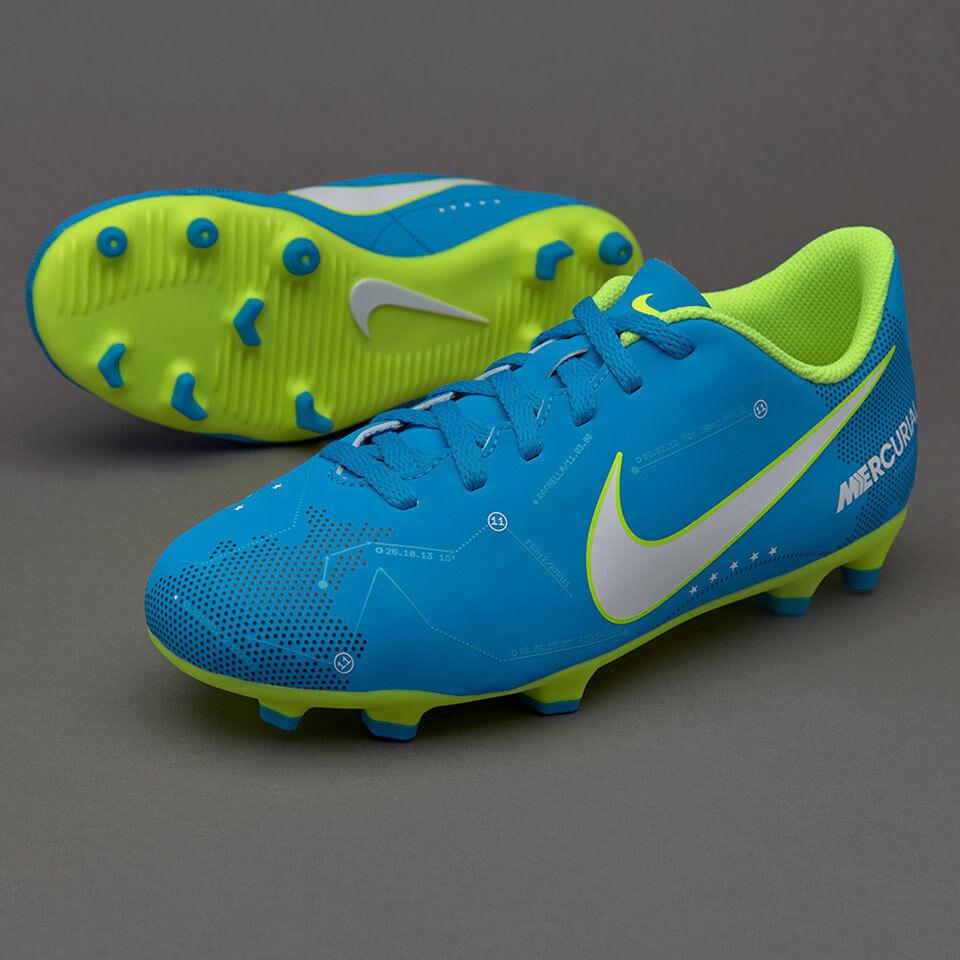 d0e854beff9 Nike MERCURIAL VORTEX vi NEYMAR NEYMAR NEYMAR JR JUNIOR TERRA FERMA Scarpe  da calcio-FG BLU b1f29b