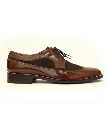 Gli uomini fatti a mano Formale Scarpe in & pelle MARRONE SCURO CIOCCOLATO & in design Oxford Scarpe ab8d3e
