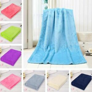 0-5-0-7M-Solid-Soft-Throw-Kids-Blanket-Warm-Coral-Plaid-Blankets-Flannel-Hot