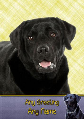 Personalised Black Labrador Dog Card Fathers Day Birthday