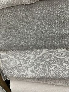 Chenille-Boucle-Seal-gray-Upholstery-Fabric-54-Wide-By-The-Yard