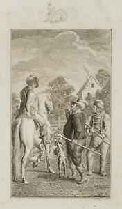Chodowiecki (1726-1801). Friedrich V. Boemia nel campo ravanelli di un volante 1