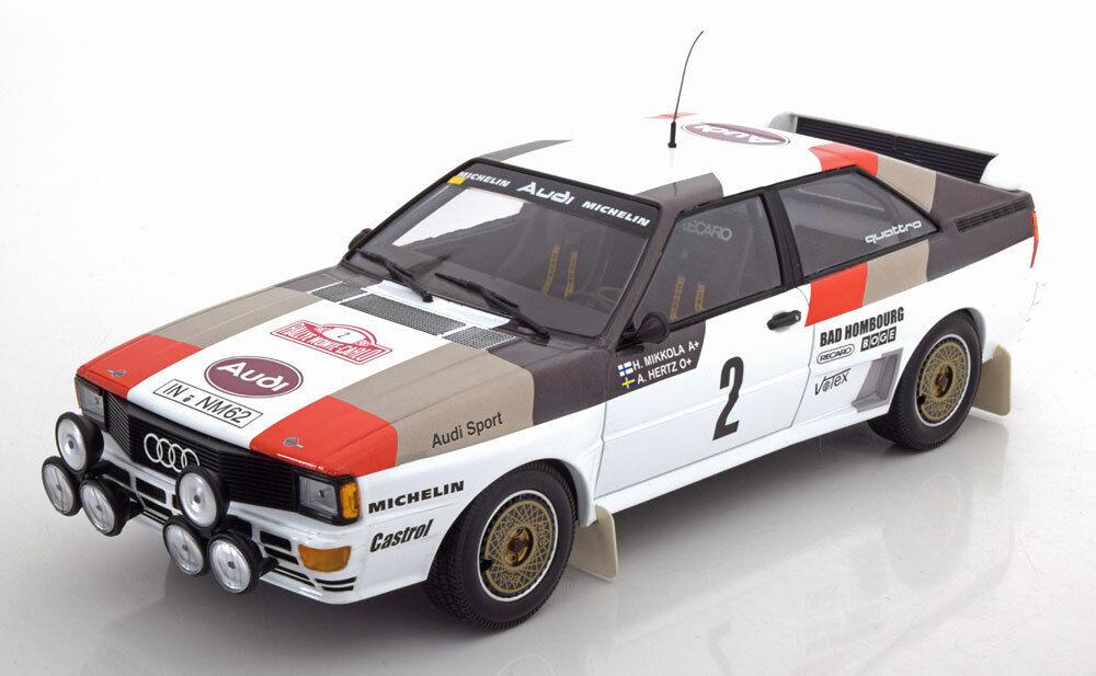 Minichamps AUDI QUATTRO A1 Rally Monte Carlo 1983 Mikkola Hertz  18 LE300