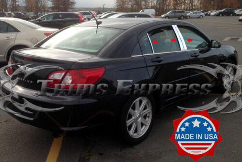 fit:2007-2010 Chrysler Sebring 6Pc Pillar Post Trim Stainless Steel Door Cover