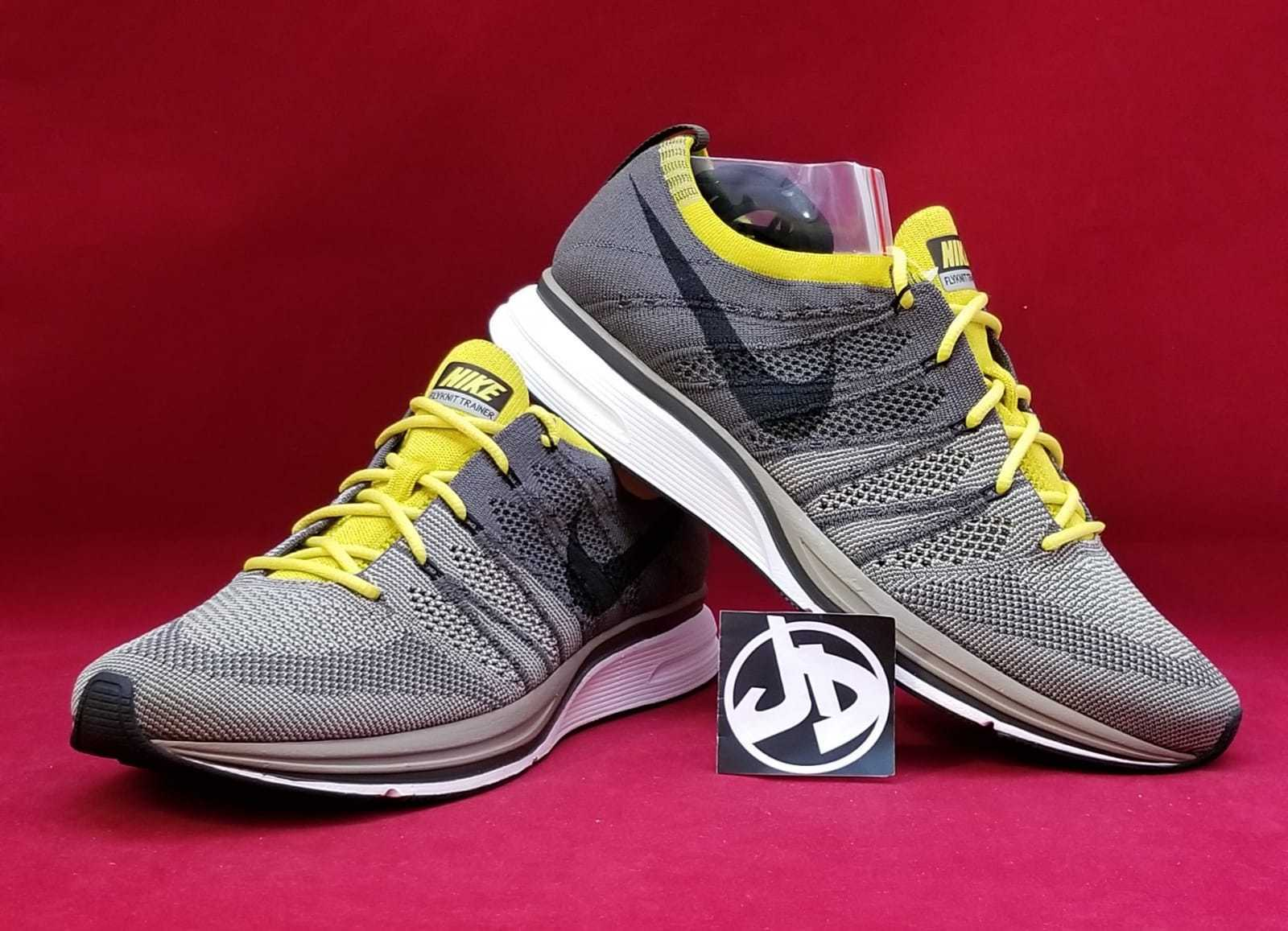 2a1e819eb573 Nike Flyknit Trainer Running Shoes Size 10 Cargo Khaki Black Yellow ...