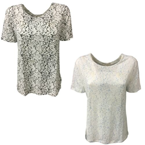 T Mod Female Second 100 Donna Lino Tee Mezza shirt Sisha Manica q15RRYwd