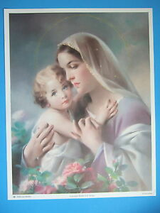 Catholic-Print-Picture-Large-MARY-with-BABY-JESUS-13x17-034-from-Italy-SIMEONE