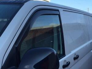 For-VW-T5-T5-1-T6-Transporter-Wind-Deflectors-Tinted-Great-Fit-In-Window-Channel