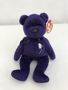 02fe86072b1 Ty Beanie Baby   PRINCESS (Diana) Bear RARE 1st EDITION! 1997 PVC ...