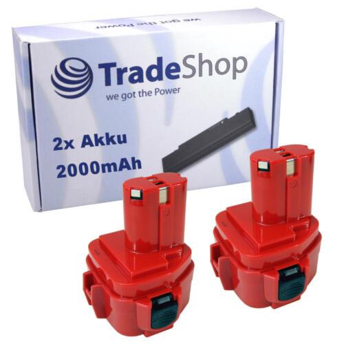 2x Batterie 12v 2000mah pour Makita 1235-f 1220 1222 1233 1234 1235 1235f 193100-4 63